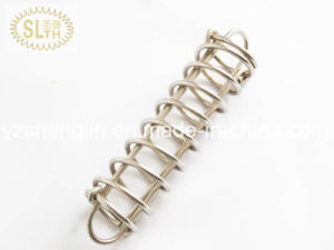Custom Compression Spring (large coil, white zinc plated) pictures & photos