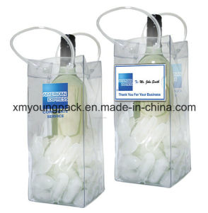 Promotional Portable Plastic PVC Ice Bag Beer Bottle Holder pictures & photos