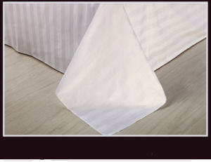 Super Soft Hotel Bed Sheet with 3cm Stripe Fabric pictures & photos