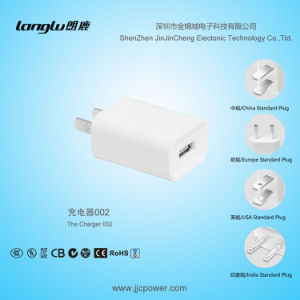 5V/1A/5W The White CCC Plug in USB Charger for Mobile Phone