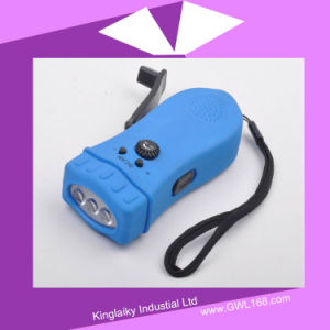 Customized Hand Crank Rechargeable Torch Light (HA-002) pictures & photos