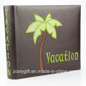 4X6 200 PCS PU Leather Vacation Photo Album with Design Embroidery pictures & photos