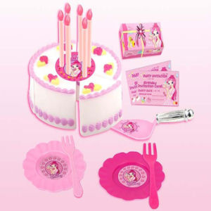 Plastic Funny Pink Girl Toys Birthday Cake Toy (10250456) pictures & photos