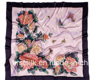 100%Silk Charmuse Silk Scarf pictures & photos
