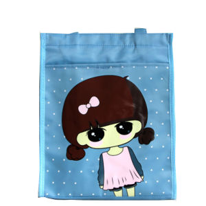 Blue Girl Style Nylon Artistic Document Tote Bag