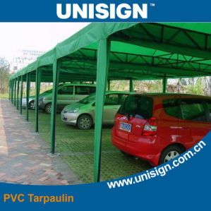 PVC Coated Polyester Fabric for Car Parking Tent pictures & photos