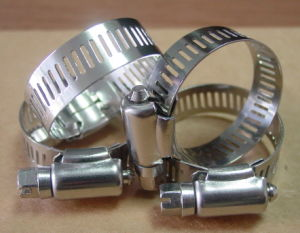 American-Type Stainless Steel Hose Clamp (8mm and 12.7mm) pictures & photos
