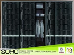 Narrow Aluminum Frame Wardrobe Door for Bedroom Furniture