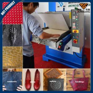 Hydraulic Custom Embossed Leather Patch Machine (HG-E120T) pictures & photos