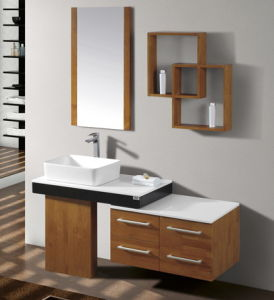 Natural Wood Veneer Bathroom Cabinet pictures & photos
