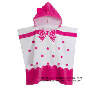 Cotton Printing Kid′s Bath Poncho Beach Poncho with High Quality pictures & photos