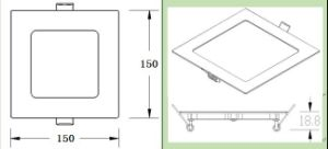3W 6W 9W 12W 15W 18W 24W Slim Square LED Panel Light Ce RoHS Approved pictures & photos