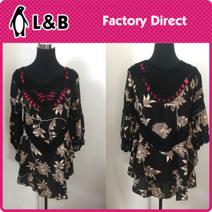 Fashion Embroidered Loose Beach Women Blouse pictures & photos