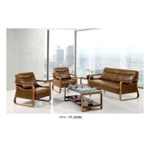 Modern Hotel Furniture Sofa Set Waiting PU Office Sofa (SF-6097) pictures & photos