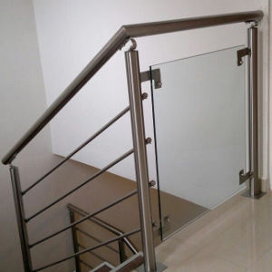 Stainless Steel Post Tempered Glass Balcony Staircase Railing pictures & photos