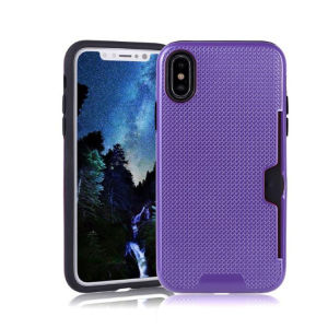 2-in-1 Cardholder 10 Colors Back Case for iPhone X pictures & photos