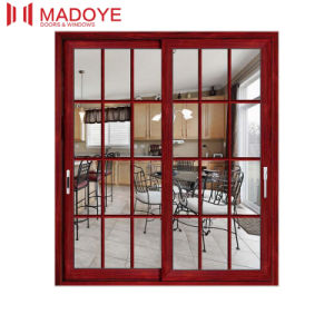 2017 Fashionable Glass Sliding Door with Beautiful Pattern pictures & photos
