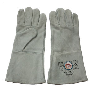China Professional Leather Welding Safety Gloves Factory pictures & photos
