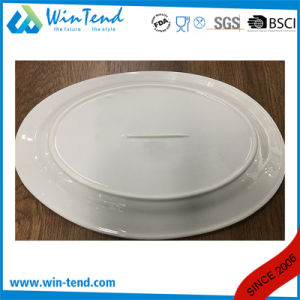 Wholesale White Porcelain Buffet Oval Plate Dish pictures & photos