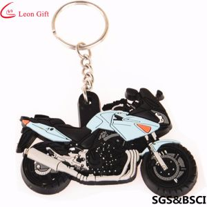 Factory Custom Promotion 3D PVC Rubber Motorcycle Car Keyring pictures & photos