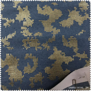 Thermoprint Gold and Silver Paste Pure Cloth Fabric for Shoes pictures & photos