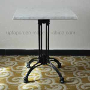 Cafe Cast Iron Base Moulded Board Werzalit Top Restaurant Table (SP-RT478) pictures & photos