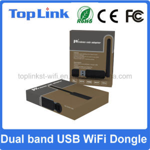 Top-GS07 Ralink Rt5572 300Mbps Dual Band USB Wireless WiFi Network Dongle with Foldable External Antenna pictures & photos