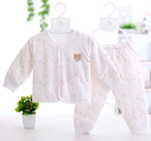 100% Cotton Long Sleeve Underwear Set with Cartoon Printing Baby Clothes pictures & photos