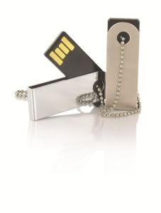 Best Selling Keychain USB Flash Drive Swivel USB 2.0 Name Printed OEM USB Disk (SMS-FDP09F)