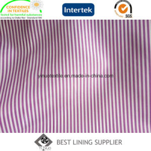 100 Polyester Two Tone Stripe Suit Lining Fabric Supplier pictures & photos