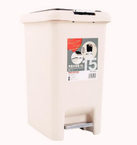 15L High Quality Plastic Pedal Waste Bin pictures & photos
