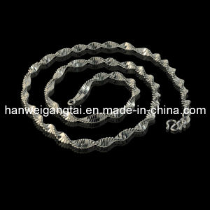 Fashionable Steel Necklace Jewelry, 3.8mm Double Wave Necklce, 316L Steel Chains pictures & photos
