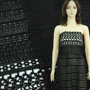 Black New Design Chemical Lace for Dress