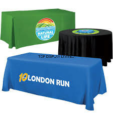 Perfect Advertising Trade Show Polyester Full Full Table Cover Features Tablecloth pictures & photos