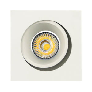 Lathe Aluminum GU10 MR16 Square Tilt Recessed LED Ceiling Light (LT2205B) pictures & photos
