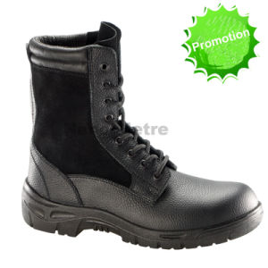 Nmsafety PU Outsole Safety Shoes S3 Grain Leather Shoe pictures & photos