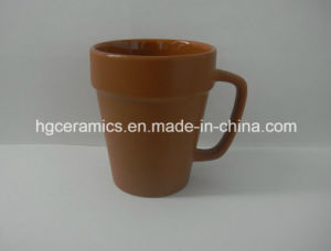 Flower Pot Ceramic Mug, 14oz Coffee Mug pictures & photos