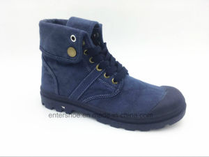 Middle Cut Lace up Canvas Women Winter Shoes (ET-XK160272W)