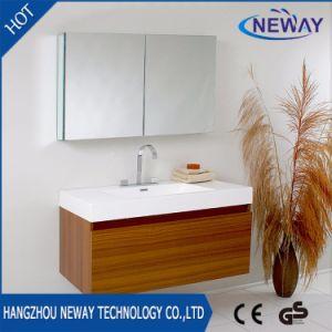 Modern Melamine Teak Bathroom Furniture with Mirror Cabinet pictures & photos