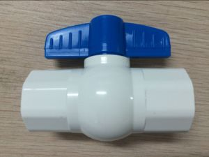 Plastic Ball Valve with Ivory Body Hot Saling pictures & photos