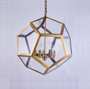 Metal Glass Chandelier (WHG-872) pictures & photos
