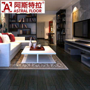 12mm Black Color Wood Grain Embossed Laminate Wooden Flooring pictures & photos