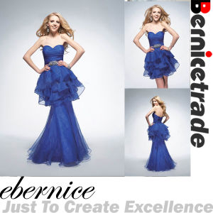 Charming New Long Blue Tulle Evening Wedding Formal Dresses