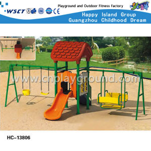 Kids Outdoor Swing Play Structures Backyard Playground (HC-13801) pictures & photos