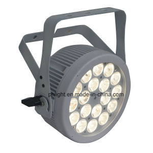 18X5w Warm White Cool White 2-in-1 LED PAR Light with White Housing for Stage, Studio, Camera pictures & photos