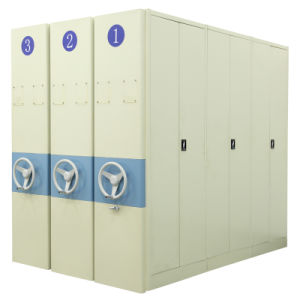 Manual Mobile Filing Cabinet System with 2, 3, 3, 4, 5, 6, etc Sections (QBW-MFSM)