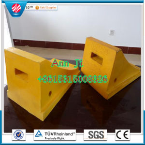 Best Quality Yellow Big Truck Wheel Chock/Buffer Block pictures & photos
