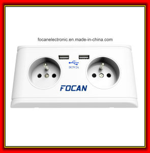 High Efficiency France Standard Plug Socket USB 5V1a Wall Plates Socket pictures & photos