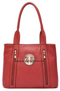 Designer Leisure Red Color Tote Bag Women Shoulder Handbag pictures & photos
