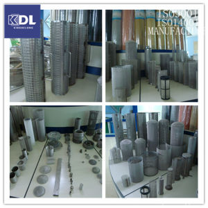 Cylindrical Wire Mesh Filter/Stainless Steel Filter Tube/Woven Mesh Cylinder pictures & photos